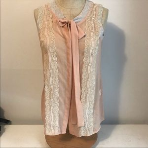 Sheer nwt top in blush Sz small